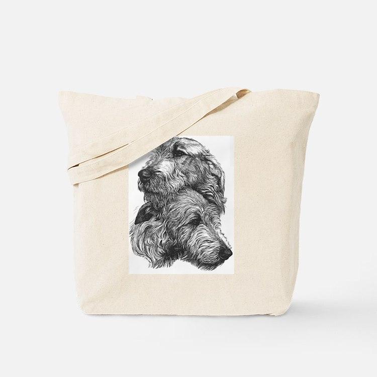 Irish Wolfhound Pair Tote Bag