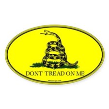 Gadsden Flag Don't Tread on Me Stickers