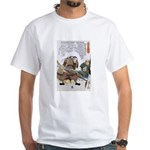 Japanese Samurai Warrior Nagamasa White T-Shirt