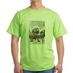 Japanese Samurai Warrior Nagamasa (Front) Green T-