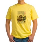 Japanese Samurai Warrior Nagamasa Yellow T-Shirt