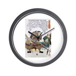 Japanese Samurai Warrior Nagamasa Wall Clock