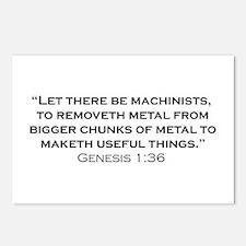 Machinist / Genesis Postcards (Package of 8)