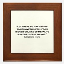 Machinist / Genesis Framed Tile