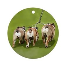 Bull Dogs Butts Ornament (Round)