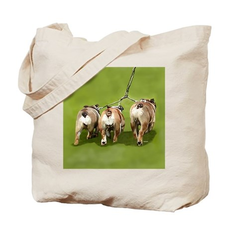 Bull Dogs Butts Tote Bag