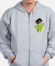 Android Pirate Zip Hoodie
