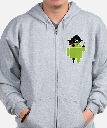 Android Pirate Zip Hoody