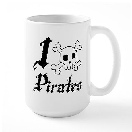 I Skull Pirates Large Mug