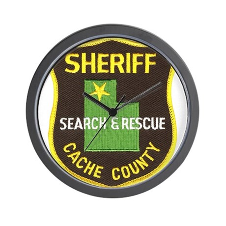 Cache County Sheriff Search & Wall Clock