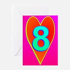 LUV 8 Greeting Card
