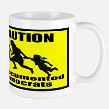 Caution Undocumented Democrat Mug