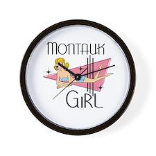 Montauk Girl Wall Clock