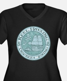 Keel Hauling Women's Plus Size V-Neck Dark T-Shirt
