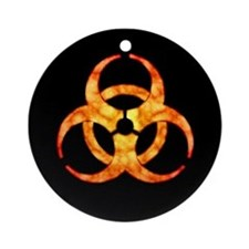 Orange Cloud Biohazard Ornament (Round)