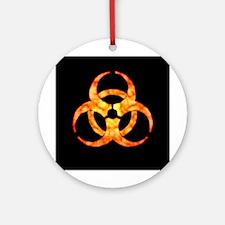 Orange Cloud Biohazard Ornament (Round)