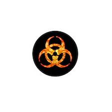 Orange Cloud Biohazard Mini Button