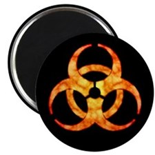 Orange Cloud Biohazard Magnet