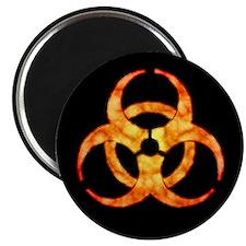 Orange Cloud Biohazard Magnet