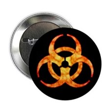 "Orange Cloud Biohazard 2.25"" Button"