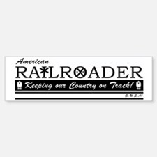 American Railroader Car Car Sticker