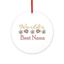 World's Best Nana Ornament (Round)