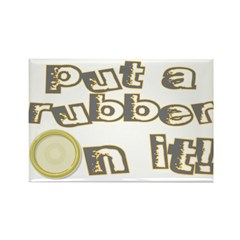 Rubber On It Rectangle Magnet (100 pack)