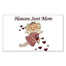 Heaven Sent Mom Rectangle Decal