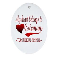 General Hospital Coleman Ornament (Oval)