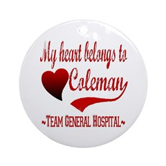 General Hospital Coleman Ornament (Round)