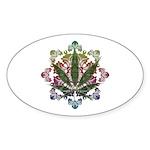 420 Graphic Design Sticker (Oval 10 pk)