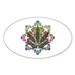 420 Graphic Design Sticker (Oval 50 pk)