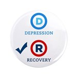 "D is for Depression 3.5"" Button (100 pack)"