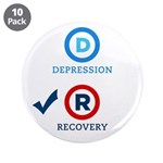 "D is for Depression 3.5"" Button (10 pack)"
