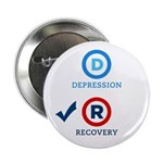 "D is for Depression 2.25"" Button (10 pack)"