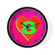 LUV 8 Wall Clock