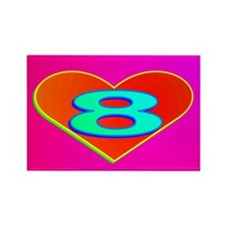 LUV 8 Rectangle Magnet