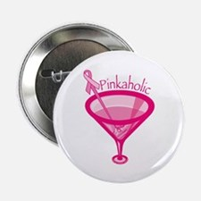 """Pinkaholic 2.25"""" Button (10 pack)"""
