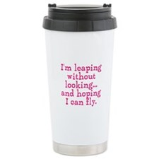 Leaping Without Looking Travel Mug