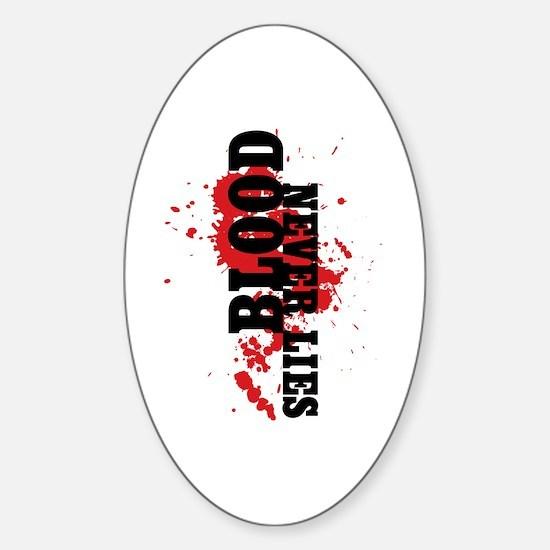 Dexter: Blood Never Lies Sticker (Oval)