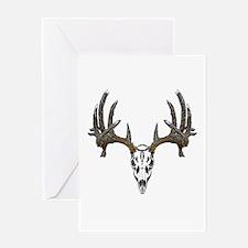 Whitetail deer skull Greeting Card