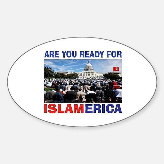 WE'RE READY Sticker (Oval)