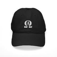Alpha Omega Logo Silver Baseball Hat