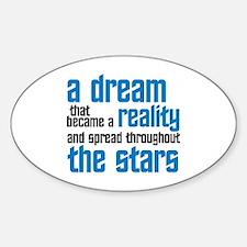 Star Trek: Captain Kirk Quote Sticker (Oval)