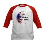 We Are Not Afraid (Front) Kids Baseball Jersey