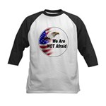We Are Not Afraid Kids Baseball Jersey