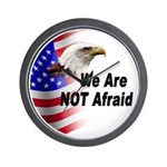 We Are Not Afraid Wall Clock