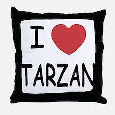 I heart Tarzan Throw Pillow