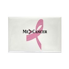 Greater than Breast Cancer Rectangle Magnet