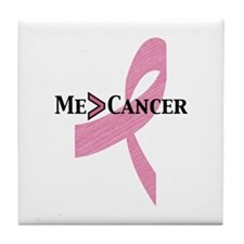 Greater than Breast Cancer Tile Coaster